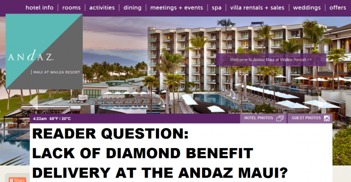 Reader Question Andaz Maui