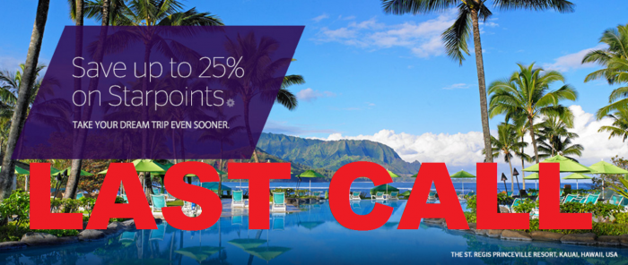 SPG Starpoints LAST CALL