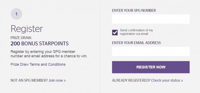 STarwood Preferred Guest SPG Jump Start Promo April 15 - September 15 2016 Prizes First