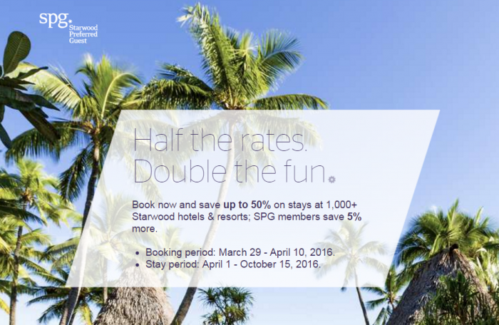 Starwood Asia Pacific Limited Time Offer Sale