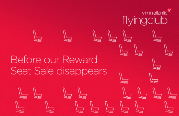 Virgin Atlantic Flying Club Reward Seat Sale Economy Spring 2016