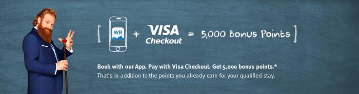 Wyndham Rewards 5000 Bonus Points Visa Checkout April 27 - July 31 2016
