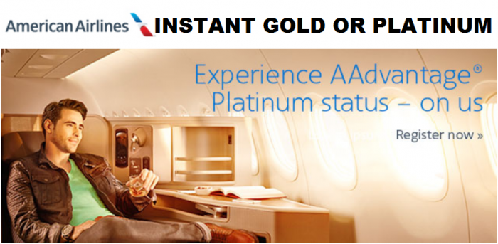 American Airlines Instant God & Platinum Offers With Fast Track To Keep Until January 2018