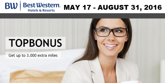 Best Western Rewards Airberlin Topbonus Up To 3000 Bonus Miles May 17 - August 31 2016