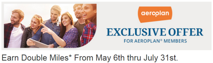 Choice Hotels Choice Privileges Double Aeroplan Miles May 6 - July 31 2016