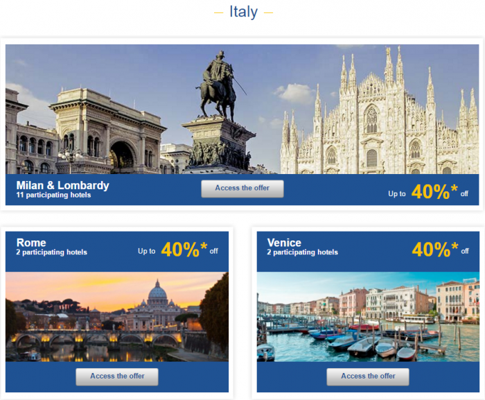 Le Club AccorHotels Europe Up To 50 Percent Off Private Sales May 10 - 16 2016 Italy 1