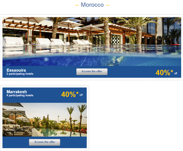Le Club AccorHotels Europe Up To 50 Percent Off Private Sales May 17 - 23 2016 Morocco 1