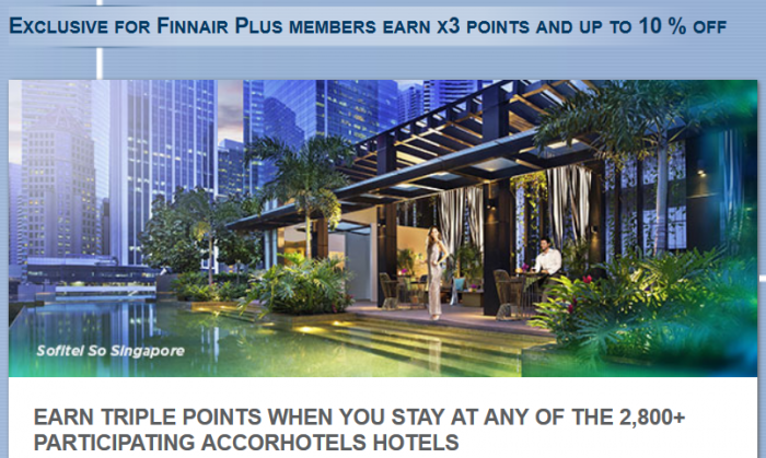 Le Club AccorHotels Finnair Triple Points April 1 - May 31 2016