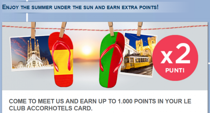 Le Club AccorHotels Spain & Portugal Up To 1000 Bonus Points June 1 - August 30 2016