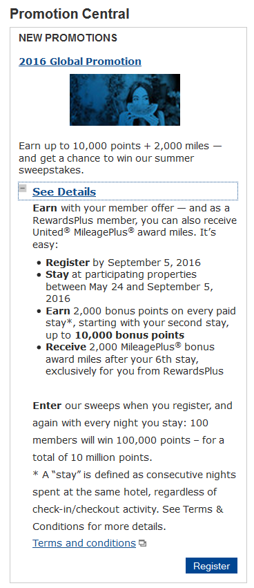 Marriott Rewards 2016 Global Promotion Offer