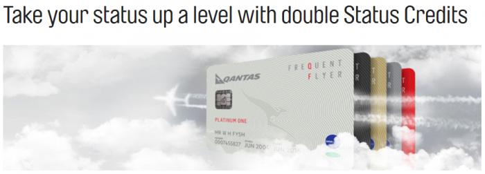 Qantas Double Status Credits April 28 - April 26 2017