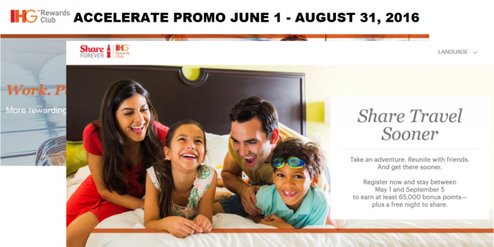 Reader Question IHG Rewards Club Share Forever & Accelerate Overlapping Promotions Combinable