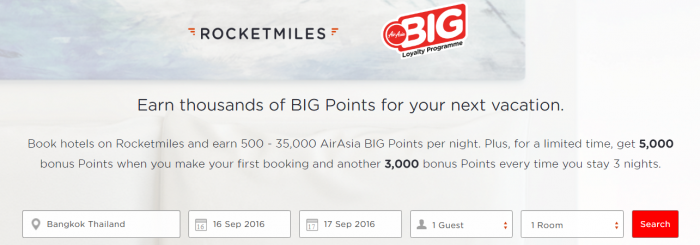 Rocketmiles AirAsia 5,000 First Booking Bonus Until July 31 2016