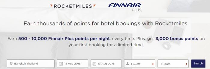 Rocketmiles Finnair Plus 3,000 Bonus Miles First Booking By July 31 2016