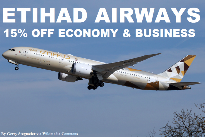 Etihad Airways 15 Percent Off Promo Code