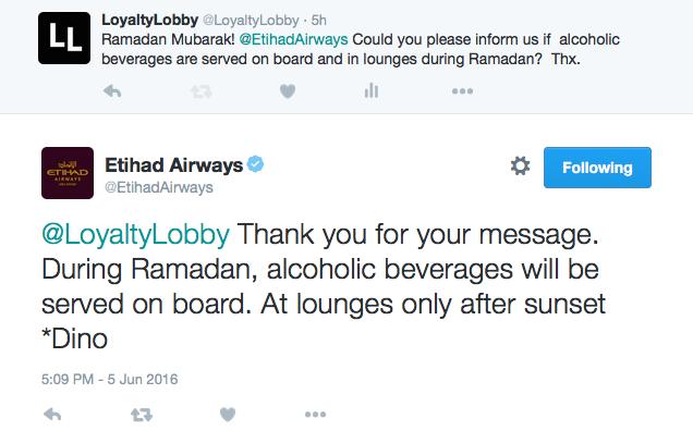 Etihad Ramadan Tweet