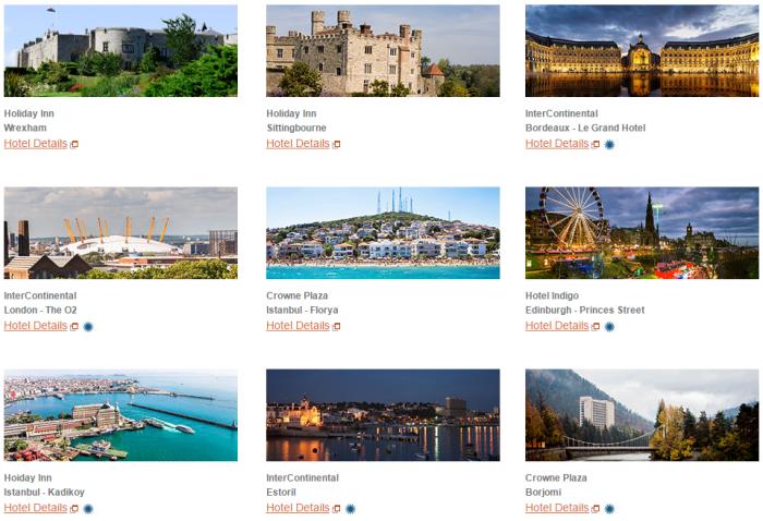 IHG Rewards Club Select New Hotels Europe Bonus Opening Offers 2