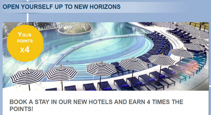 Le Club AccorHotels Quadruple Points Select New Hotels July 1 - August 31 2016