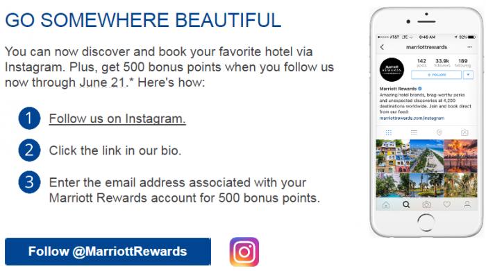 Marriott Rewards 500 Points Instagram