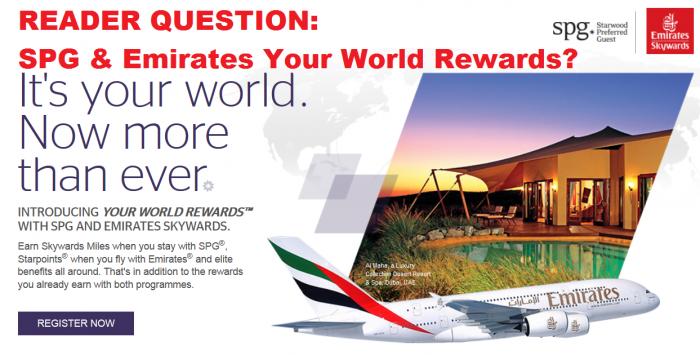 Reader Question Your World Rewards