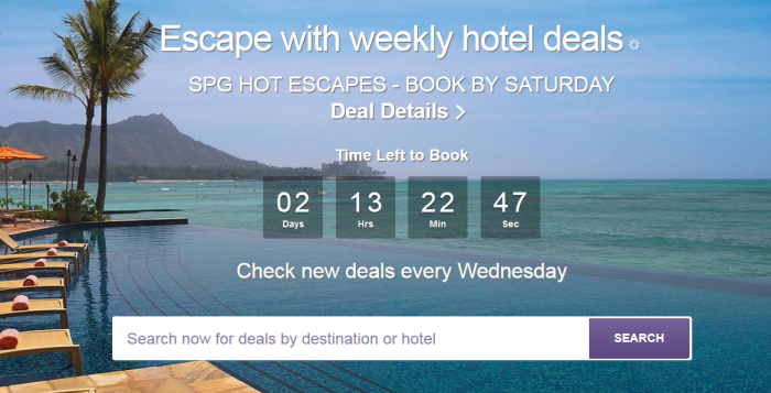 SPG Hot Escapes June 1 - 4 2016