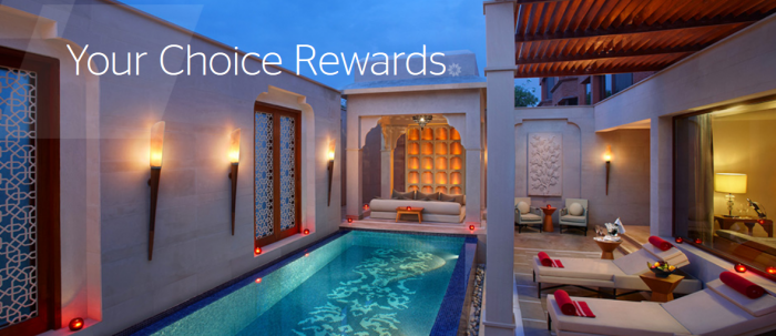 Starwood Preferred Guest India Your Choice Rewards June 20 - September 30 2016