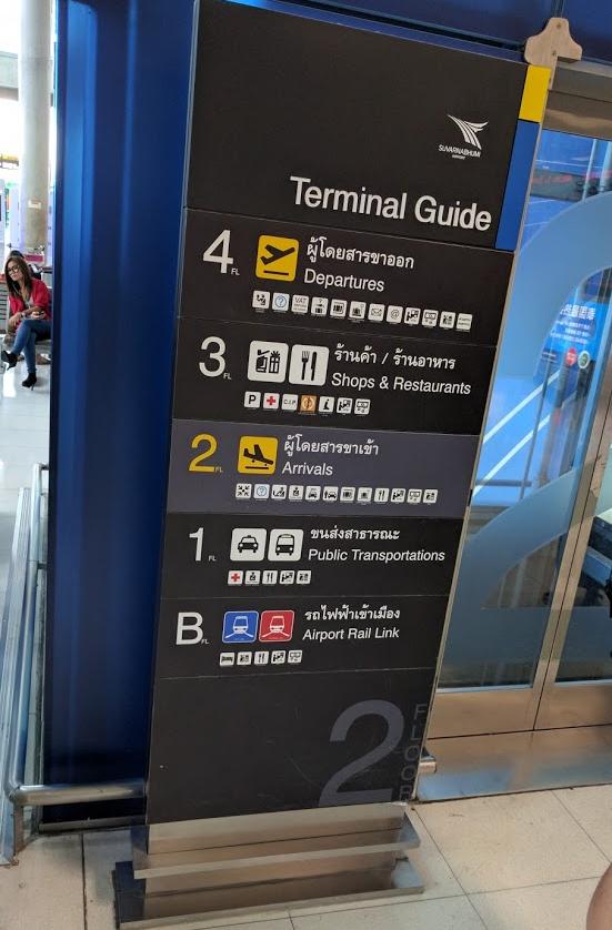 Catching Uber From Bangkok's Suvarnabhumi Airport Floors