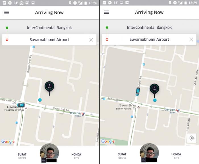 Catching Uber From Bangkok's Suvarnabhumi Airport RT 2