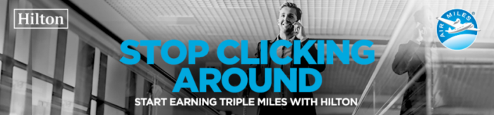 Hilton HHonors Air Miles Up To Triple Bonus June 18 - November 18 2016