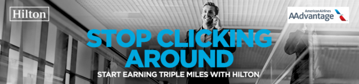 Hilton HHonors American Airlines Triple AAdvantage Miles Americas July 18 - November 18 2016