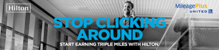 Hilton HHonors United Airlines MileagePlus Triple Miles Americas July 18 - November 18 2016