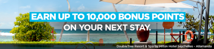 Hilton HHonors Up To 10,000 Bonus Points Winback Promotion August 1 - January 12 2017