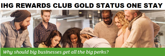 IHG Rewards Club Gold Status One Stay