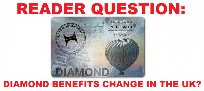 Reader Question Hilton HHonors Diamond Benefits Change In The UK