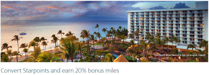 American Airlines AAdvantage SPG Starpoints To Miles 20 Percent Conversion Bonus August 1 - September 14 2016