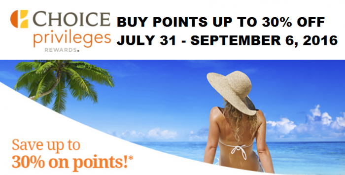 Choice Privileges Buy Points August 2016 Campaign