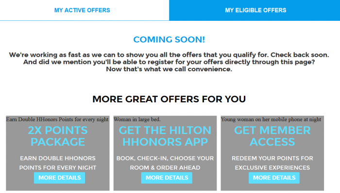 Hilton HHonors My Eligible Offers