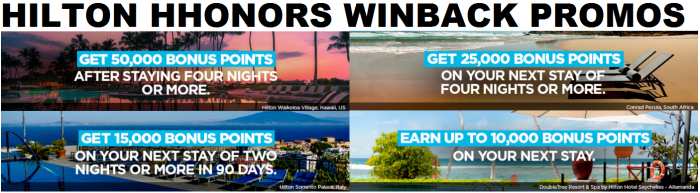 Hilton HHonors Winback Promotions