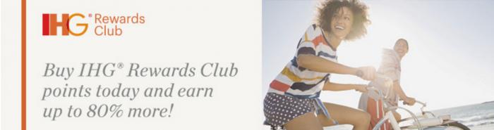 IHG Rewards Club Buy Points Up To 80 Percent Bonus August 12 - September 9 2016