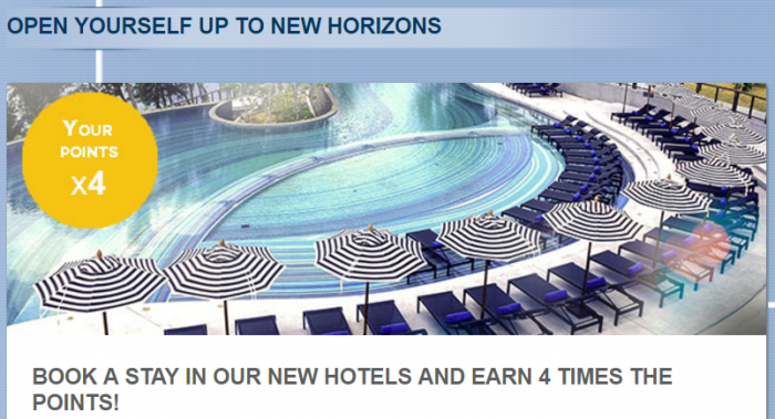 Le Club AccorHotels Quadruple Points Select New Hotels August 1 - September 30 2016