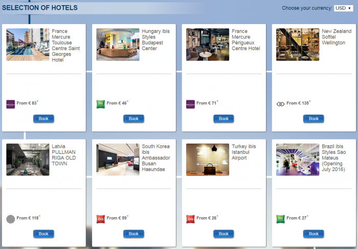 Le Club AccorHotels Quadruple Points Select New Hotels August 1 - September 30 2016 Selection