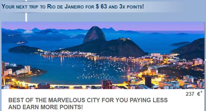 Le Club AccorHotels Rio De Janeiro Triple Points September 1 - October 31 2016