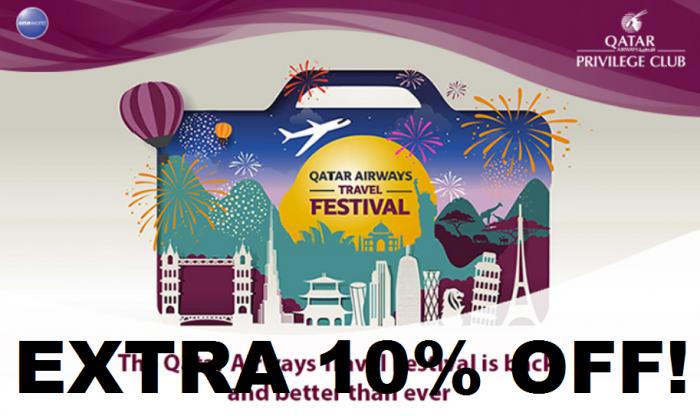Qatar Travel Festival 10 Percent Off
