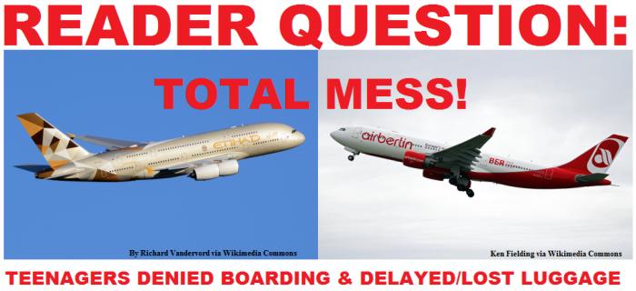 Reader QUestion Airberlin Etihad
