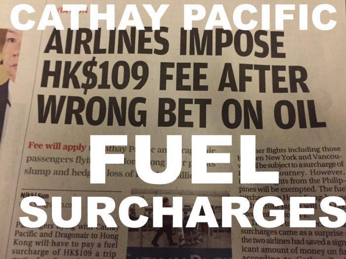 CX Fuel Surcharges