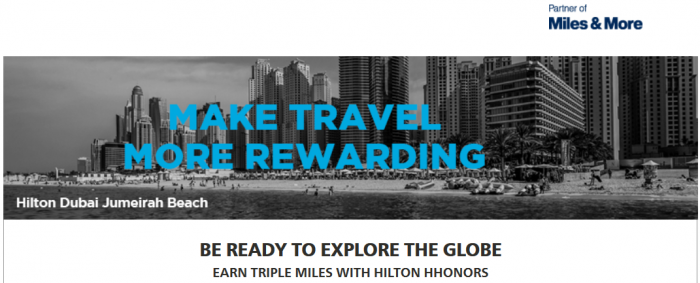 Hilton HHonors Lufthansa Triple Miles September 1 - November 30 2016