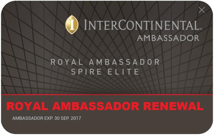 IHG Rewards Club Royal Ambassador Renewal