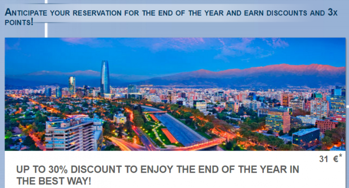 Le Club AccorHotels Triple Points South America December 23 - January 8 2017