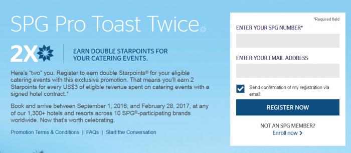 SPG Pro TOast Twice September 1 - February 28 2017