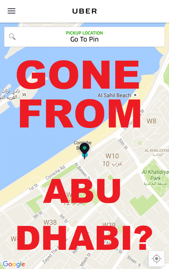 Uber Gone From Abu Dhabi